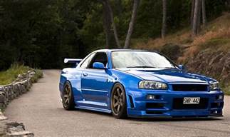 Nissan Skyline R34 Gtr 11 Amazing Cars Featuring In Fast And Furious 7 Sam New