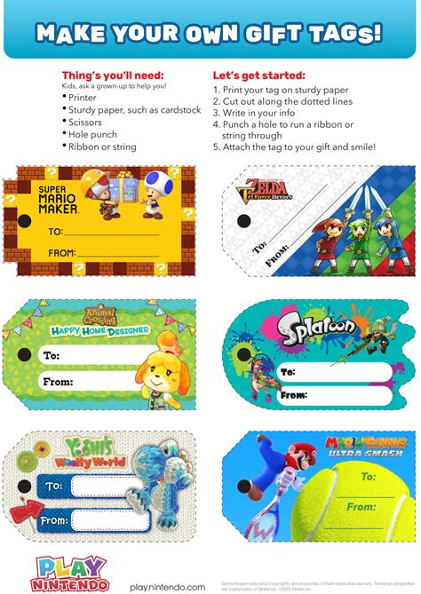 Animal Crossing Happy Home Designer Tips by Printable Gift Tags From Nintendo Play Nintendo
