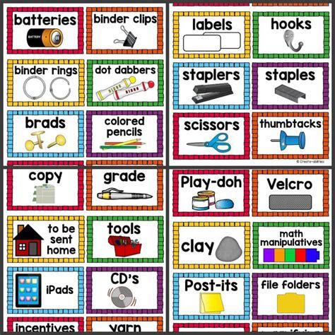 printable calendar labels for classroom 42 best classroom labels images on pinterest classroom