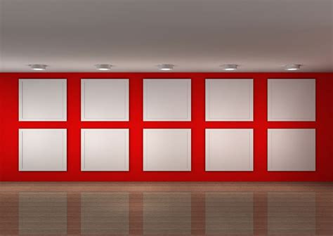 design background wall painting exhibition hall red background wall design