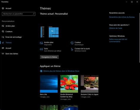 themes microsoft store windows 10 les th 232 mes sont d 233 sormais int 233 gr 233 s au windows