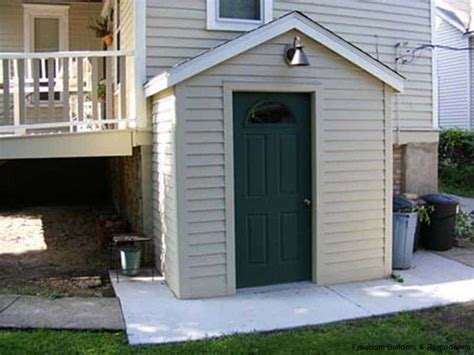 Walk Out Basements by Attached Shed Basement Entrance Freedom Builders
