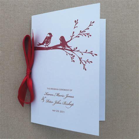 wedding booklet templates program template lovebird booklet print