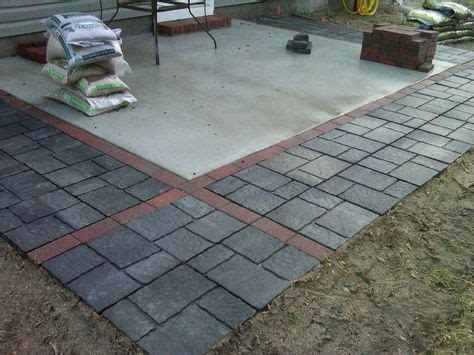 adding pavers to concrete patio adding pavers to extend existing patio search