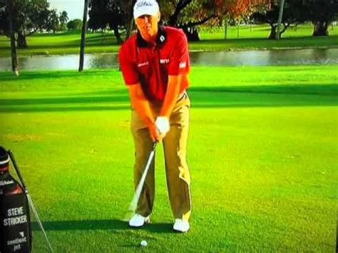chipping golf swing steve stricker chipping pitching instruction golf