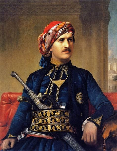 Ottoman Armenians by An Armenian In Late Ottoman Costume Portrait By Edward