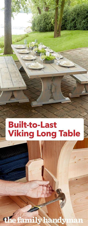 built   viking long table diywoodprojectseasysmall