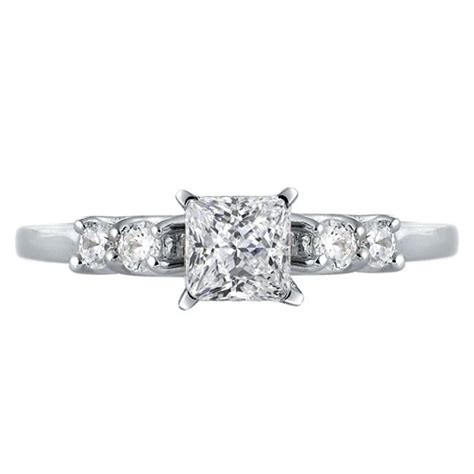 mazal princess cut engagement ring with