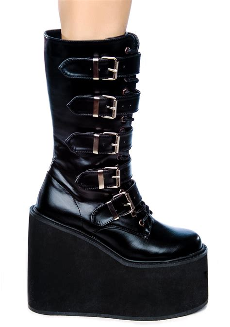 swing shoes demonia swing platform boots dolls kill
