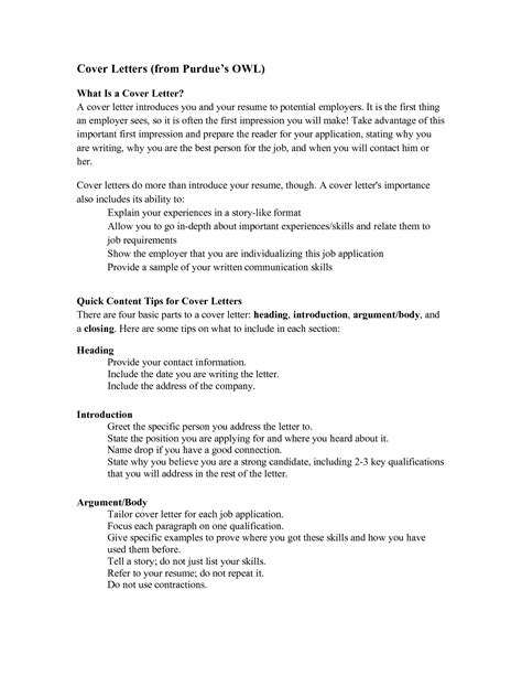 Owl Cover Letter Sample – academic cover letter purdue, Essays on manufacturing