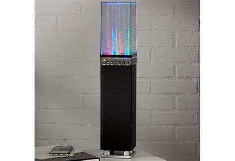 bluetooth tower dancing water fountain speaker  sharper image