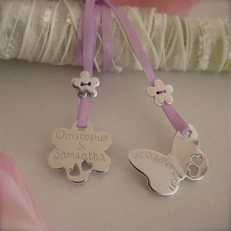 Wedding Bouquet Charms by Sterling Silver Wedding Bouquet Charms By Dizzy