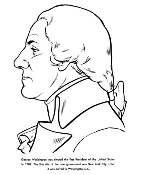 coloring page for george washington washington coloring pages