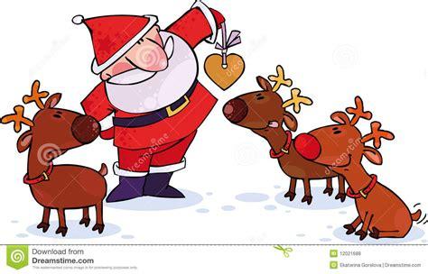 imagenes de santa claus y los renos santa y renos fotos de archivo libres de regal 237 as imagen