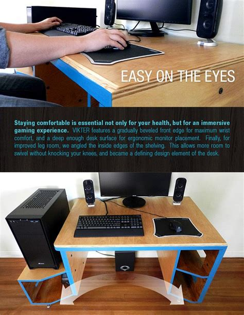 vikter gaming desk plans vikter gaming desk on behance gaming pinte