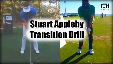 golf swing transition stuart appleby swing golf transition drill youtube