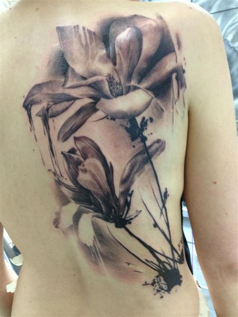 black and white lotus flower tattoo black and white flower florian karg the best