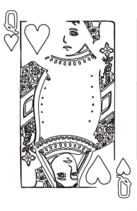 coloring page queen of hearts queen of hearts clip art 69