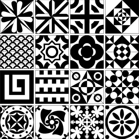 tile design patterns free vector resource 矢量图 365psd com