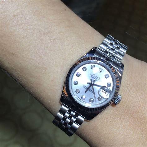 rolex 179174 datejust silver