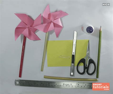 How To Make Paper Windmill For - how to make a paper windmill origami windmill