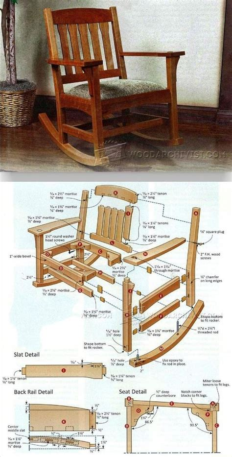 awesome  diy rocking chair plans   build