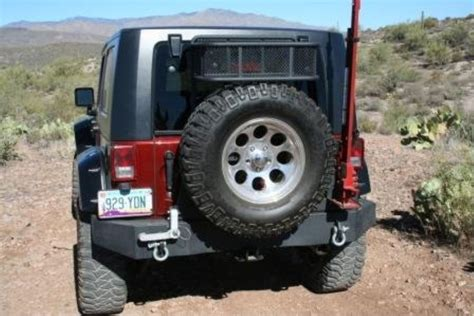 Jeep Spare Tire Carrier Bulldog Winch Rear Swing Away Tire Carrier Jeep Jk 3rd
