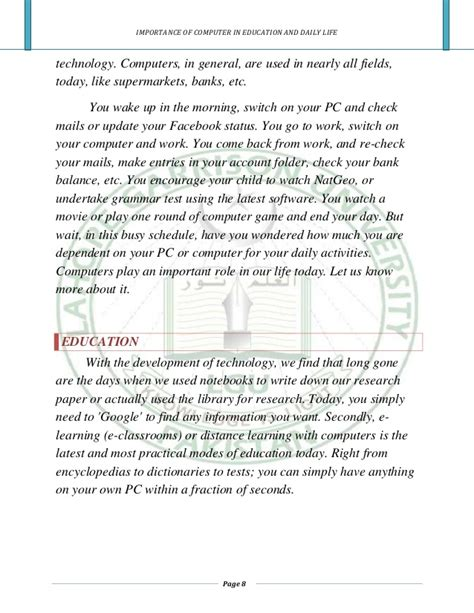 Computer In Education Essay by Importance Of Computer In Education
