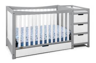Crib With Changing Table Attached Graco Remi 4 In 1 Convertible Crib And Changer Ebay