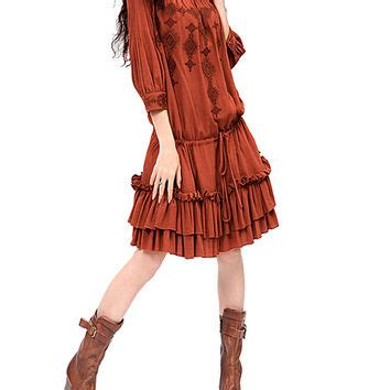 rust colored dress rust colored dress fashion dress summer from dawanda