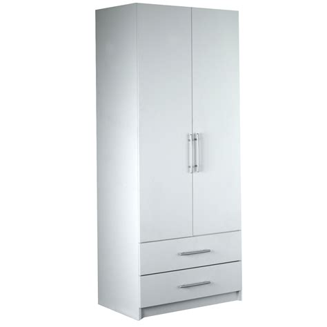 washington 2 door 2 drawer door wardrobe white