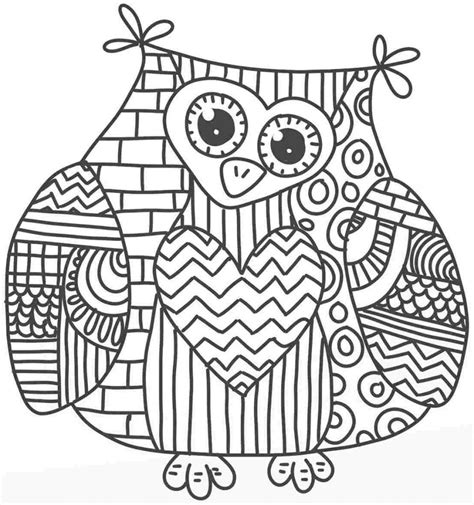 hard coloring pages of owls free coloring pages of hard owl