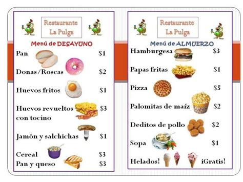 projecte javerm el meu spanish menu clipart clipart kid free mostly templates printables spanish