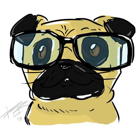 pug in glasses pug glasses by drpaulor on deviantart