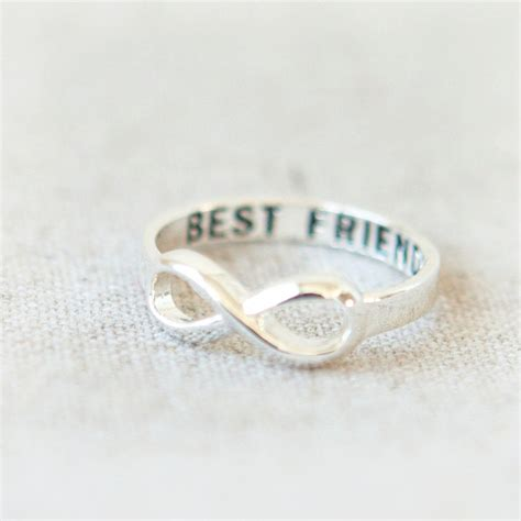 best friends infinity ring in silver ringscollection