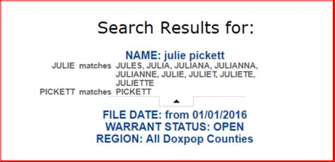 Tax Warrant Search Doxpop Tools For Attorneys And Information