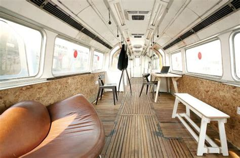 Office Space Car Subway Cars Transformed Into Studios