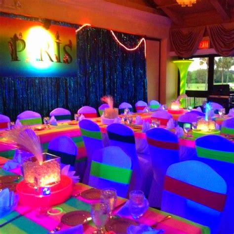 quinceanera neon themes 1000 images about maddie bat mitzvah on pinterest