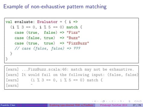 Scala Pattern Matching Exhaustive | exploring type directed test driven development a case