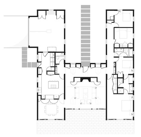 h shaped floor plans h shaped ranch house plans