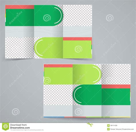 green brochure layout vector tri fold business brochure template royalty free stock