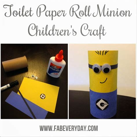 Minion Toilet Paper Roll Craft - easy despicable me minion children s craft using a toilet