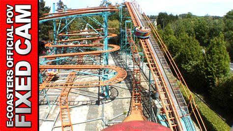 theme park france ragondingue bagatelle parc roller coaster pov on ride