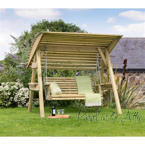 wood garden swing 2 seat wooden garden swing chair seat hammock bench