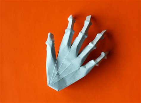 Origami Skeleton - origami skeleton how about orange