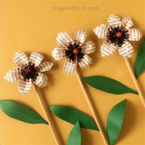 5 Petal Flower Origami - origami flower beautiful easy and fast to fold pipe