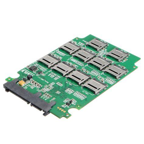 Hardisk Converter 10x micro sd tf memory card to sata ssd adapter raid