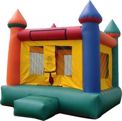 multi color castle bounce house south florida bounce