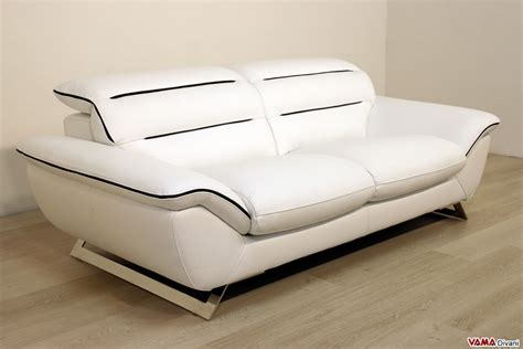 Contemporary White Leather Sofa Contemporary White Leather Sofa With Steel