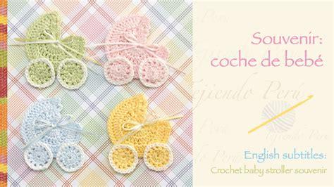 apliques infantiles a crochet souvenir coche para beb 233 tejido a crochet crochet baby